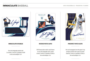 2019-PANINI-IMMACULATE-BASEBALL-LIVE-RANDOM-PLAYER-1-BOX-BREAK