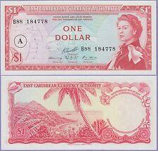 East Caribbean States-Antigua Island 1 Dollar Banknote 1965 Choice CU,Cat#13-H-1
