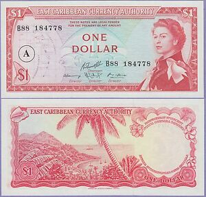 North & Central America Other Central Am. Paper Money Romantic East Caribbean States-antigua Island 1 Dollar Banknote 1965 Choice Cu,cat#13-h-1 At All Costs