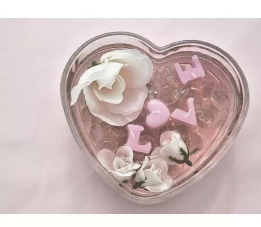 20 Valentine Heart Shaped Bowl Wedding Glass Table Centerpiece Candle Holder 9in