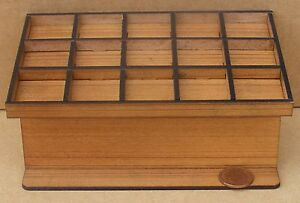 1:12 Scale Full Wooden Bakers Tray Rack Tumdee Dolls House Miniature Accessory C