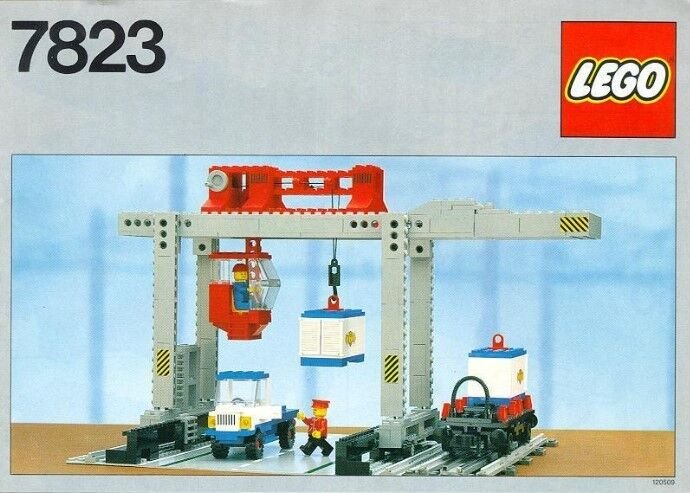NEW Lego 12V Train 7823 Container Crane Depot - SEALED Freight Wagon