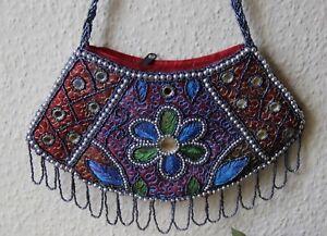 Grün 32 Hochzeitstasche blau 51x Elegant Cm Handarbeit Perlenbesetzt Abendtasche T3FKl1Jc