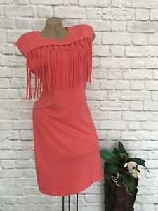 Bonprix Schones Sommer Kleid Shirtkleid Fransenkleid Gr 36 38 Korallenrot Neu Ebay