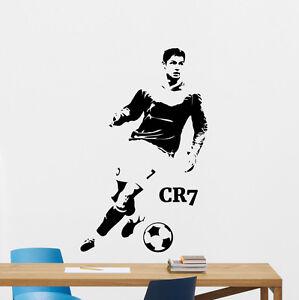 Cristiano ronaldo wall decal football vinyl sticker soccer cr7 decor image is loading cristiano ronaldo wall decal football vinyl sticker soccer voltagebd Choice Image
