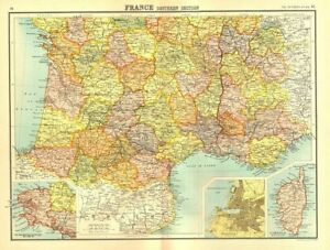 France South Brittany Inset Marseilles Plan Bartholomew 1898