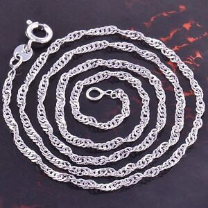 Free-Shipping-9K-White-Gold-Filled-Water-Wave-Chain-Necklace-Z1505