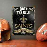 Orleans Saints Vintage  Looking  Metal Sign