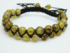 Shamballa bracelet  all 6mm DRAGON VEINS AGATE beads