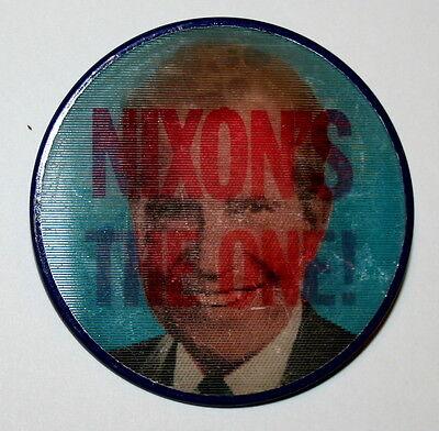 1960 Richard M Nixon Now 60 President Political Campaign Button NOS New