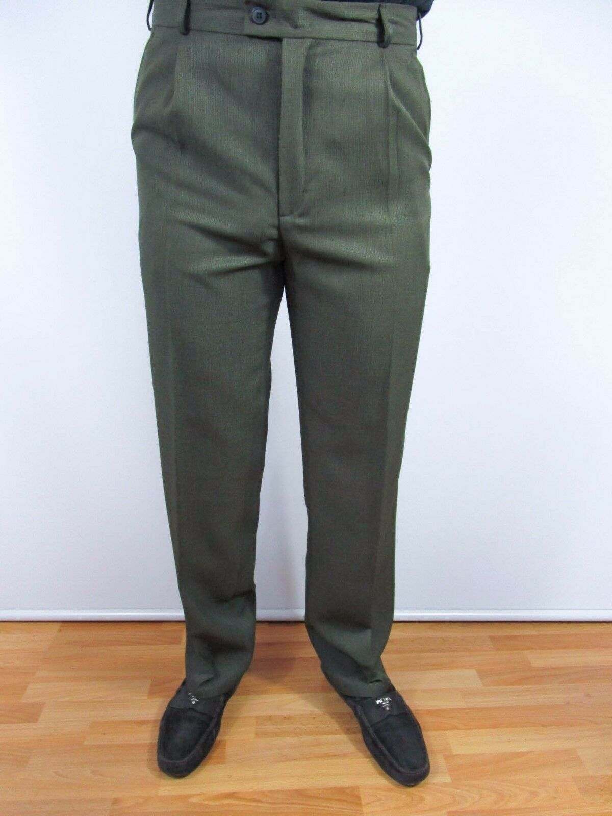 Men's Made in  Vtg Formal Office Tailored Suit Pants Trousers sz M BI33