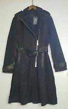 Bnwt Allsaints panelled LIA Mac.biker.coat.suede.uk 6 £458.sold out.leather