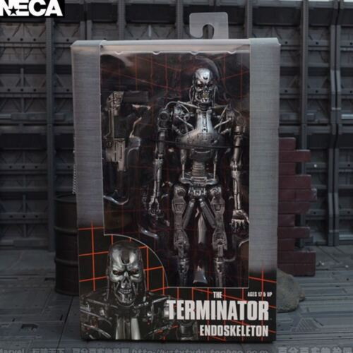 "The Terminator Endoskeleton T-800 with Plasma Rifle 7/"" Action Figure New In Box"