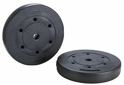 Opti 34cm Circular Vinyl Weight Plates 2 X 10kg Ebay
