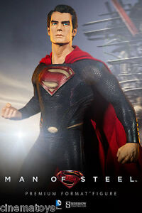 L'homme au film Superman Henry Cavill au format Premium Figure Sideshow Statue