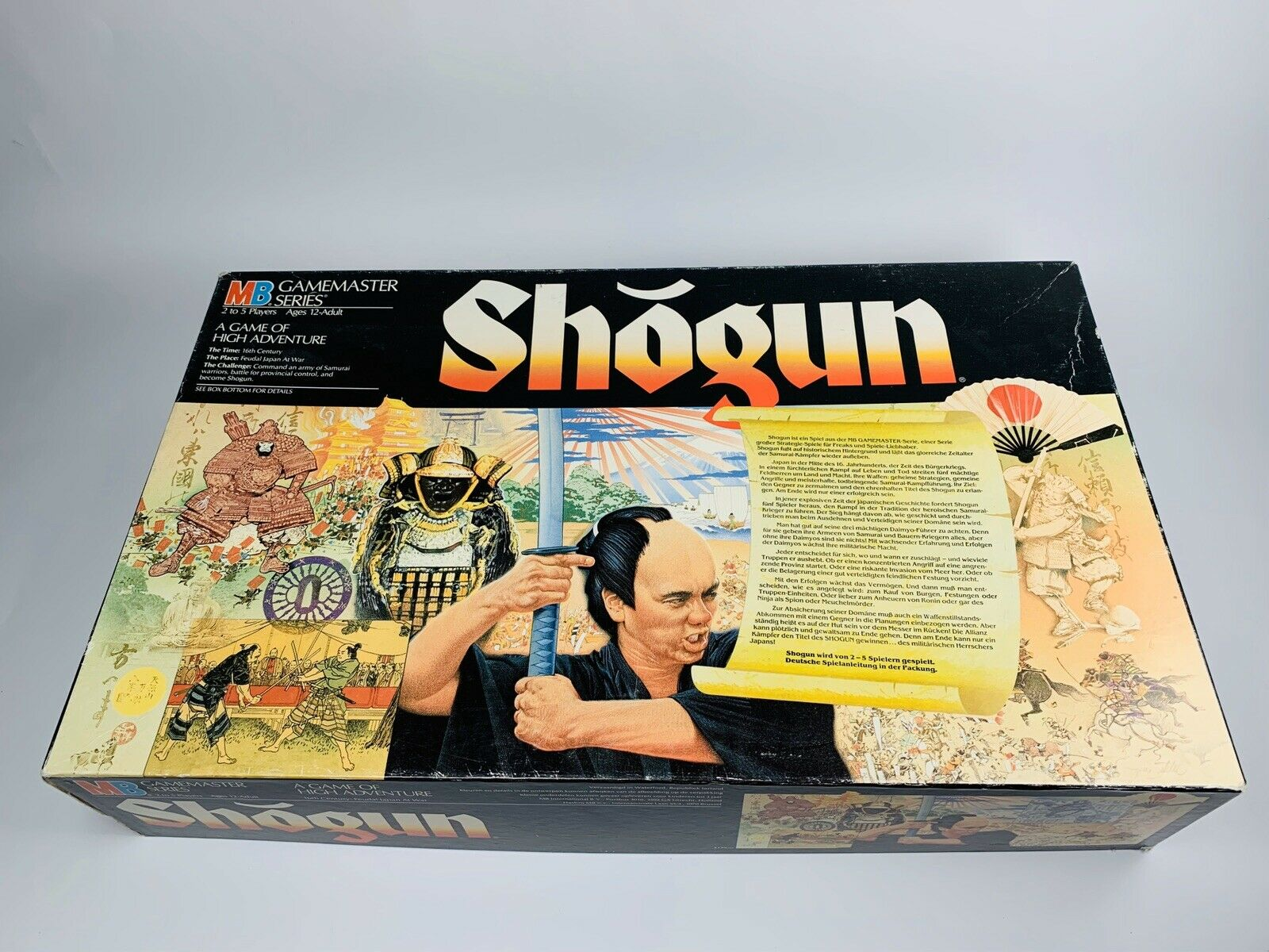 SHOGUN Brettspiel von MB (1986) Game Master Series Sehr guter Zustand