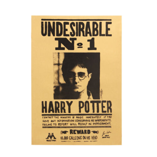 NEW Harry Potter Poster Kraft Paper Bar Wall Daily Prophet Decorative Paintings