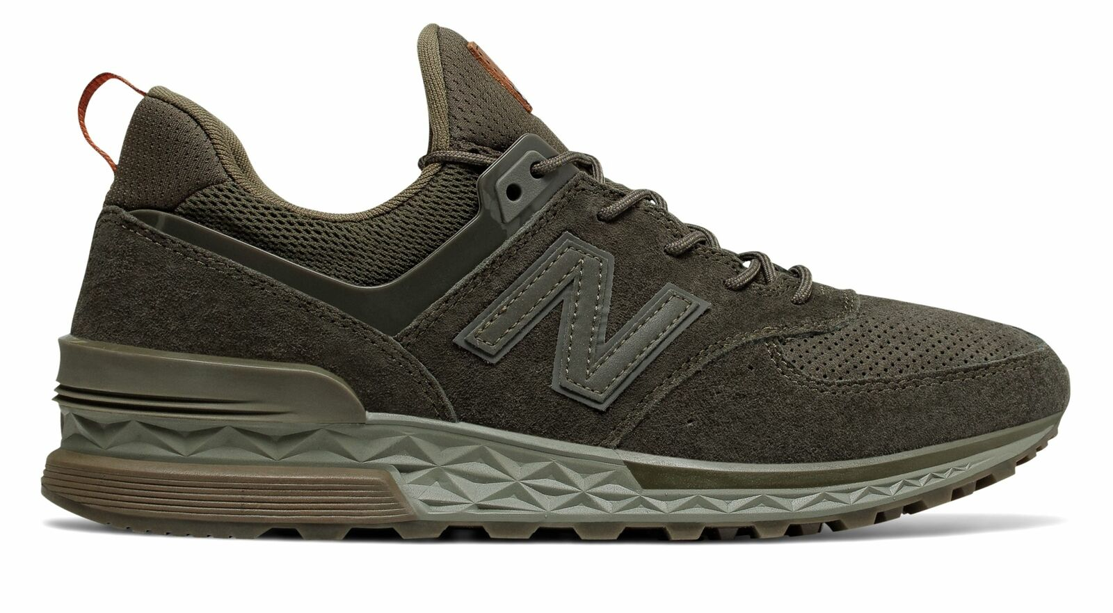 New Balance Men's 574 Sport Classic Modern-Athletic Comfortable shoes Green