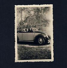Volkswagen VW HEBMÜLLER CABRIOLET * Privatfoto u 1950 / private Photo #11