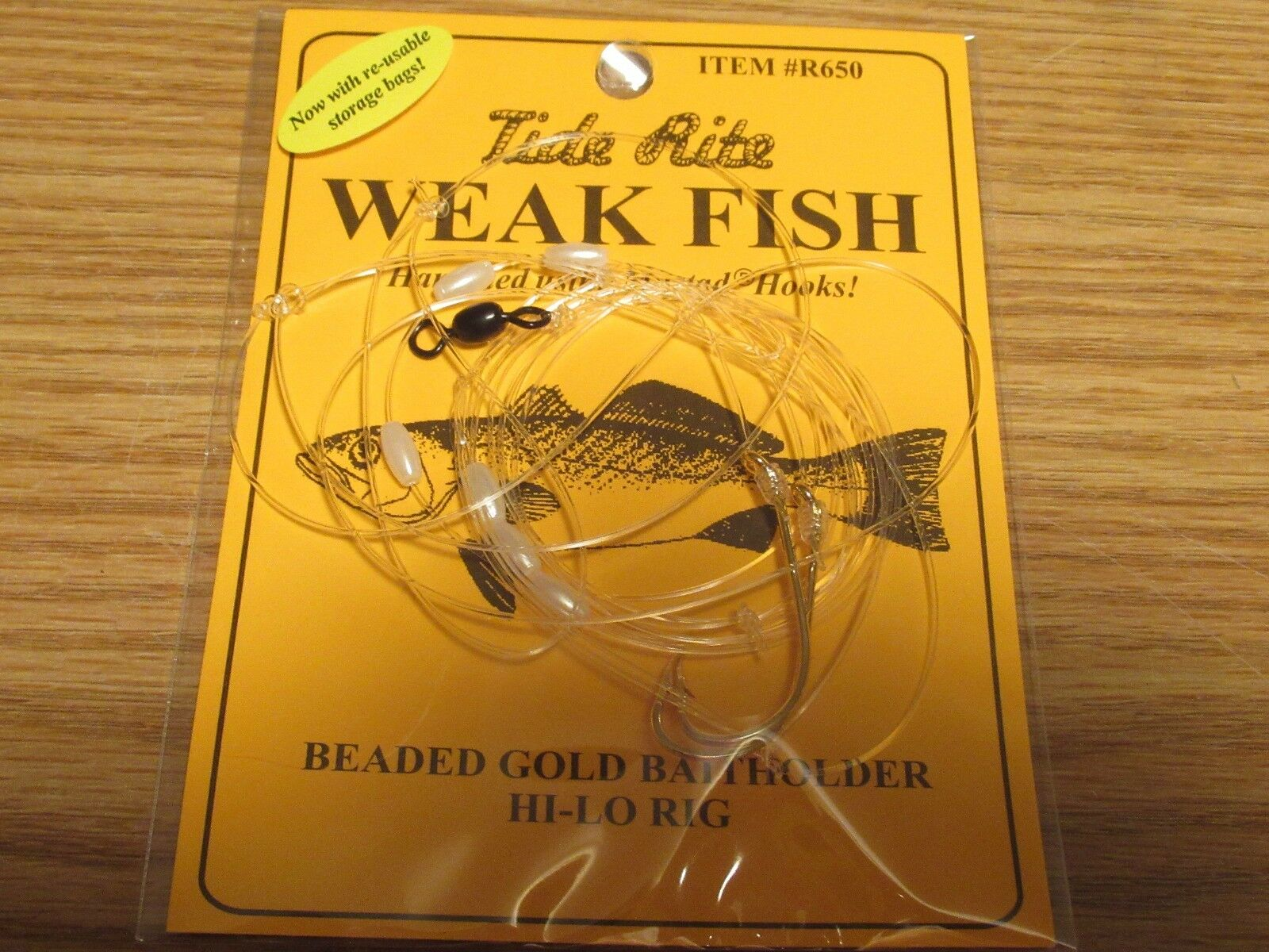 24 WEAKFISH SEA TROUT TIDE RITE  R650  BEADED  HI-LO RIG  FISHING MUSTAD HOOKS  first-class service