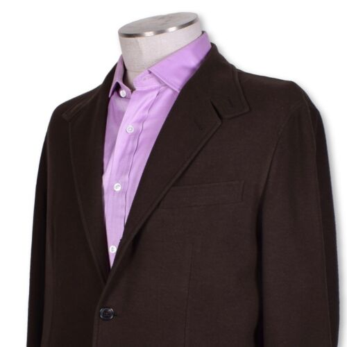 NWT Belvest Brown Cotton Cashmere Wool Silk Blend Two Button Sportcoat 40 40r