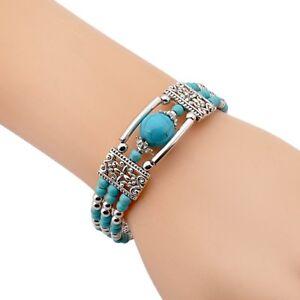 Boho-Tibetan-Silver-Feather-Bangle-Women-Gypsy-Turquoise-Vintage-Bracelet-Bangle