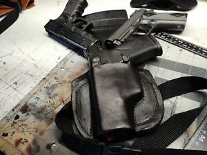 Brand New Leather Holster Strap Down Left For mp 40 1911compact And Glock19