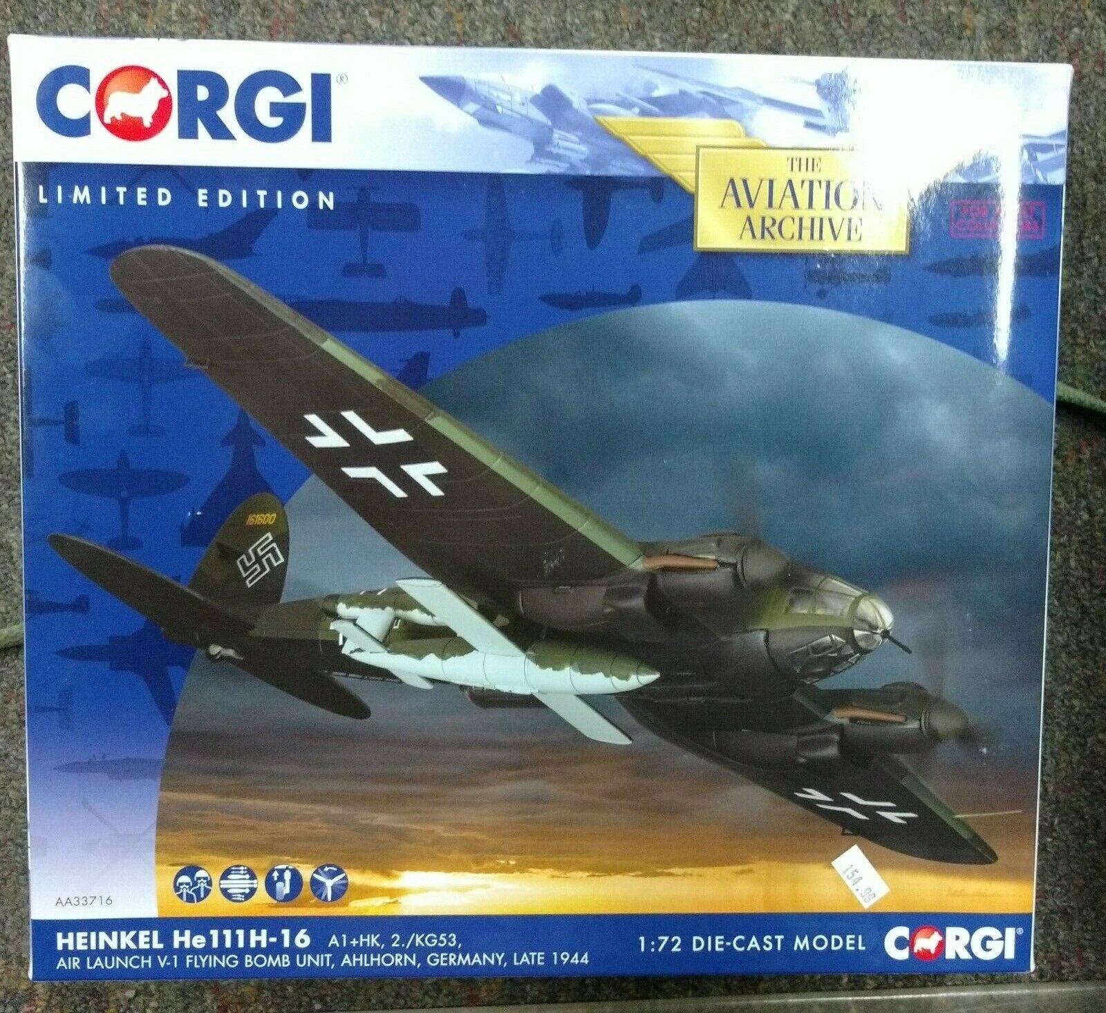 CORGI  AA33716 1 72 Heinkel He-111H-16 A1+HK, 2. KG53, Air LANCER V-1