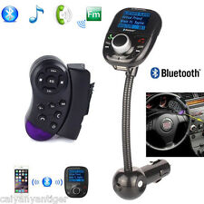 Bluetooth FM Transmitter With Steering Wheel Control Car LCD MP3 Player SD USB