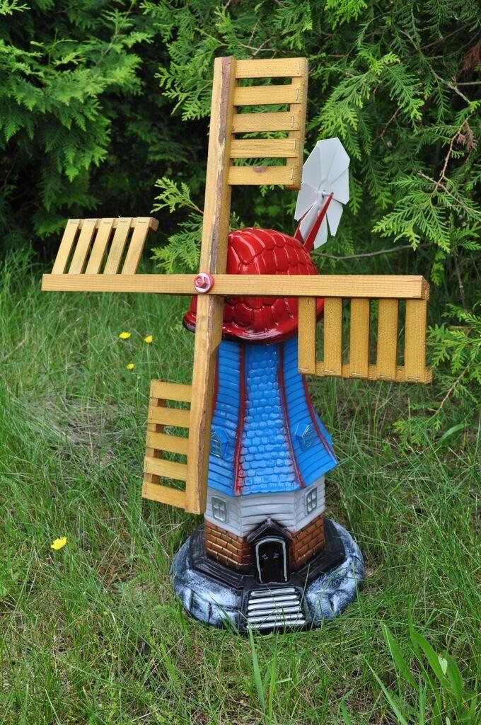 Gartenwindmühle - Windmühle - Mühle - 70 cm- Deko für den Garten - Balkonmühle