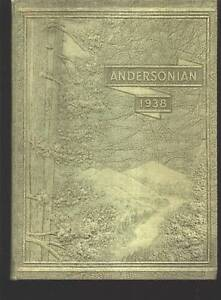 Forestville Oh Anderson High School Yearbook 1938 Ohio Ebay
