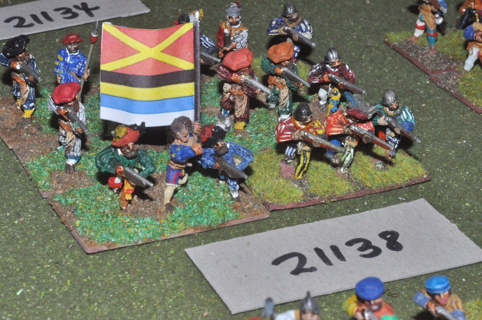 25mm renaissance   generic - infantry 18 figures - inf (21138)