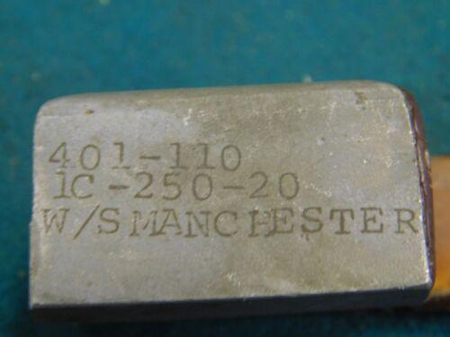 Manchester Tool Upper Insert Clamp # 401-110 1C-250-20