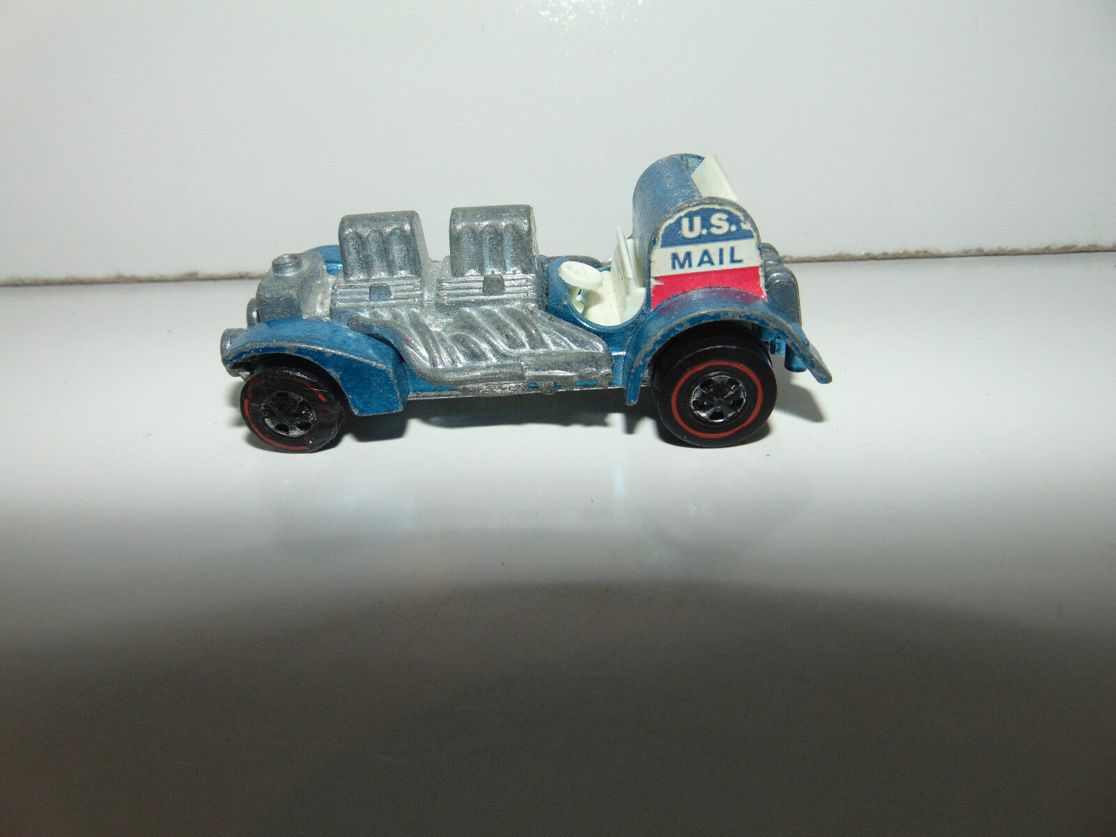 Hot Wheels Redline SPECIAL DELIVERY DELIVERY DELIVERY Mattel 1970 bluee WHITE Interior RARE  cb9691