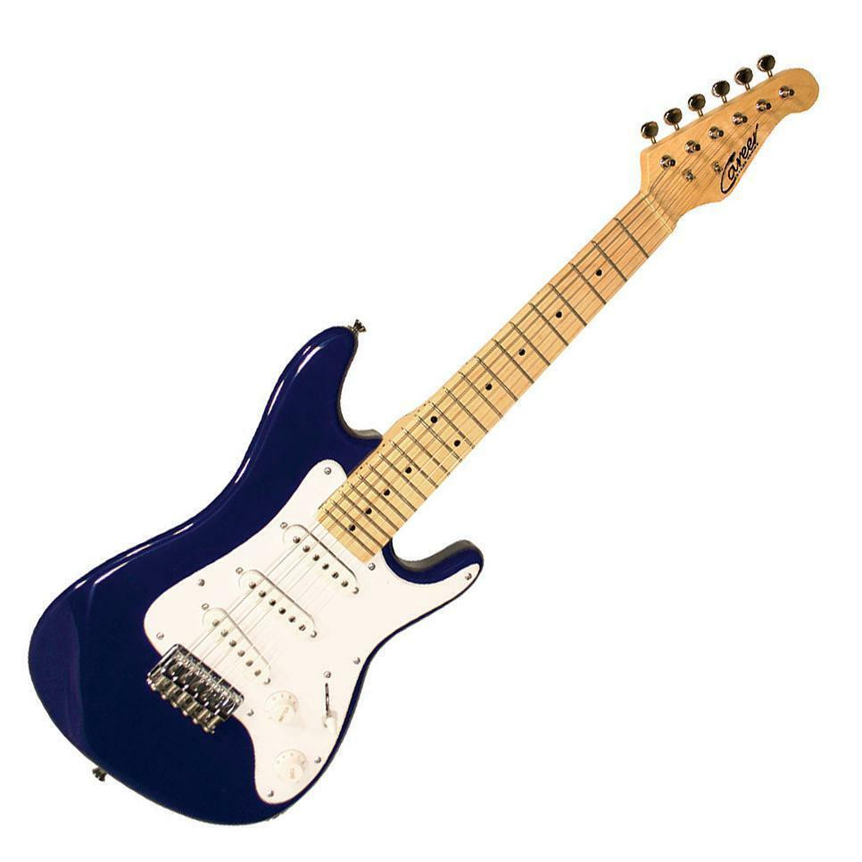 Career Stage 1 Junior E-Gitarre für Kinder Blau 57er Mensur