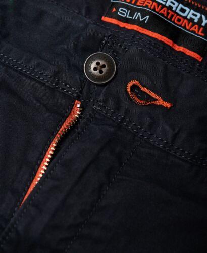 Superdry Mens Plain Chino Shorts Cotton Summer Half Pant Casual Short Midnight