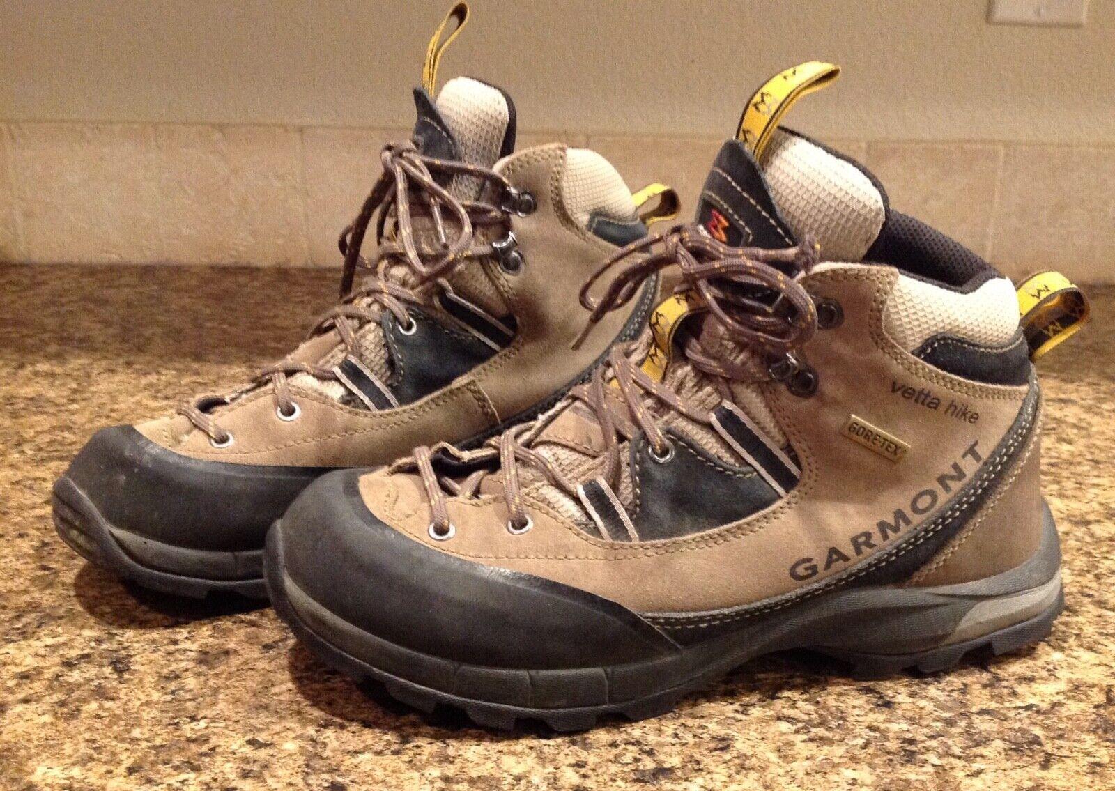 Garmont Vetta Hike Sz 9 Women's Gore-Tex Hiking Trail Mountaineering Boots Brown