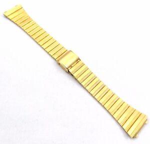 Bulova-Gold-Plated-Two-Piece-Metal-Bracelet-17mm-Vintage-1970s