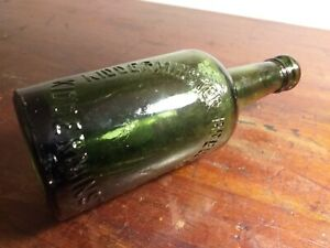 Collectable-Vintage-Green-Glass-Bottle-Kidderminster-Brewery-Co-Ltd