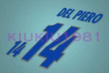 Italy Del Piero #14 EURO 1996 Awaykit Nameset Printing