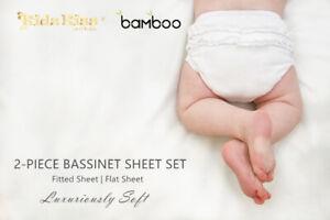 3-Sets-Kidz-Kiss-Bamboo-2-Piece-Bassinet-Sheet-Set-Luxuriously-Soft