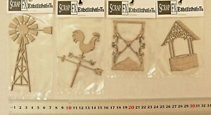 CHIPBOARD-WINDMILL-WISHING-WELL-HOURGLASS-amp-WEATHER-4Style-Choice-Scrap-FX-G