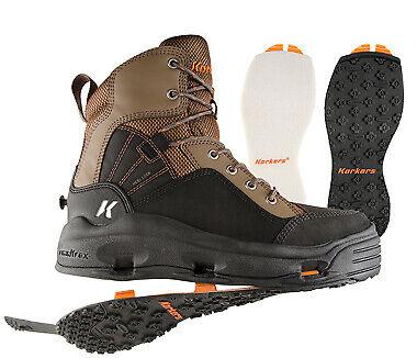 Size 12 Korkers Buckskin Wading Boot Kling-On /& White Felt Soles