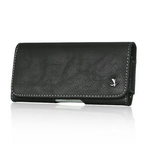 Black-Leather-Belt-Clip-Horizontal-Pouch-Case-Cover-For-Samsung-Galaxy-S7-G930