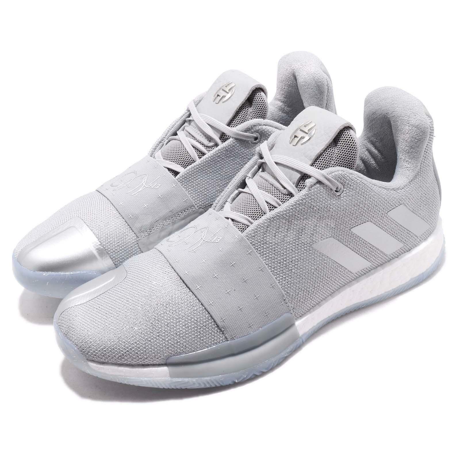 Adidas Harden Vol. 3 Boost James Grey White Men Basketball shoes Sneakers F36443