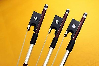 10 pcs New Brazil wood violin bows ebony frog 4/4 size professional bow