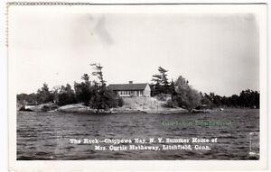THE-ROCK-Chippewa-Bay-NEW-YORK-c1940-Photo-POSTCARD-St-Lawrence-County