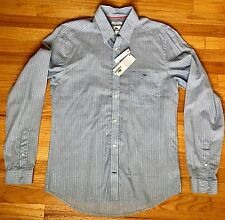 Lacoste Men's Modern Fit Button Up Long Sleeve Striped Shirt NWT - Size 38 Small