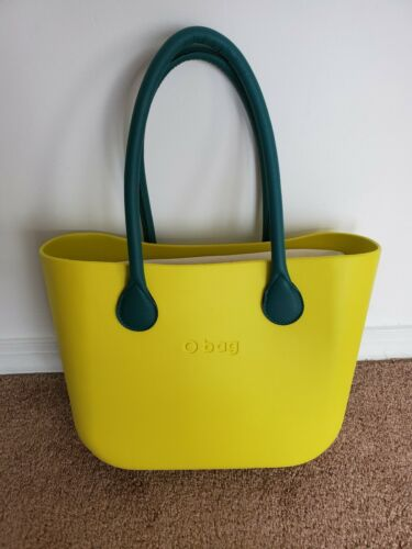 Women's Large O bag Lime green with dark green rem