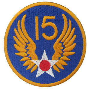US Army USAAF 15th Air Force Badge WW2 Repro American Airforce Divisional Patch